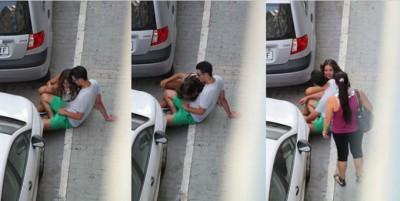 De pe Twitter, în toată lumea! Sex oral pe o stradă din Malaga