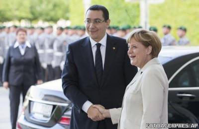 Întâlnire istorică Merkel-Ponta la Berlin