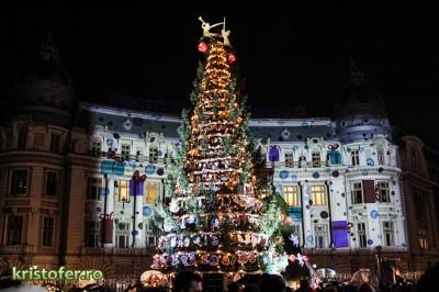 6 decembrie, data când se aprind luminițele de sărbători în București