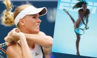 Jucătoarea daneză de tenis Carolina Wozniacki s-a dezbrăcat