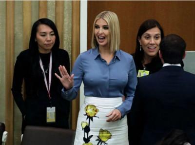 Ivanka Trump, în centrul atenţiei la Adunarea Generală ONU. Nu discursul, ci sânii au furat privirile tuturor
