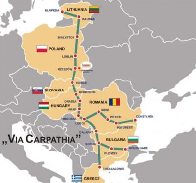 Pe unde trece autostrada construita de americani in Romania. Traseul VIA CARPATHIA costa 7 miliarde de dolari
