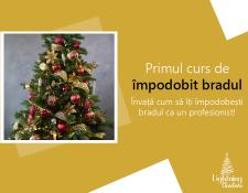 Lightning Christmas lansează primul curs de împodobit bradul din România