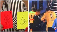 Autograful lui Haaland, pentru care arbitrul Șovre a fost criticat, a fost donat centrului pentru copii cu autism