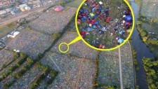 Reading Festival 2021: Mii de corturi abandonate și o mare de gunoaie rămase